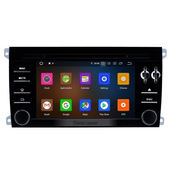 Pantalla táctil HD de 7 pulgadas para 2003 2004 2005-2011 Porsche Cayenne Radio Android 10.0 Sistema de navegación GPS con Bluetooth Carplay compatible con 1080P Video TPMS