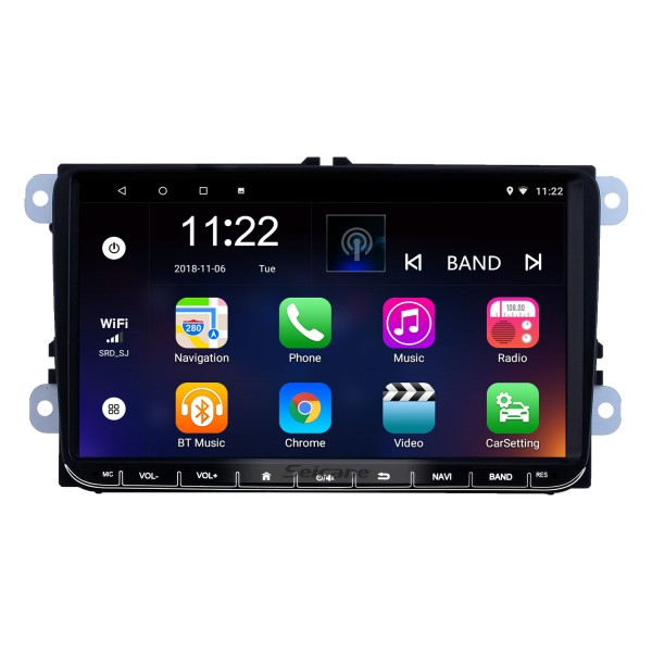 Android 10.0 Pantalla táctil GPS de 9 pulgadas Radio para VW Volkswagen Passat Polo Golf Skoda con Bluetooth USB compatible con WIFI Carplay TV digital