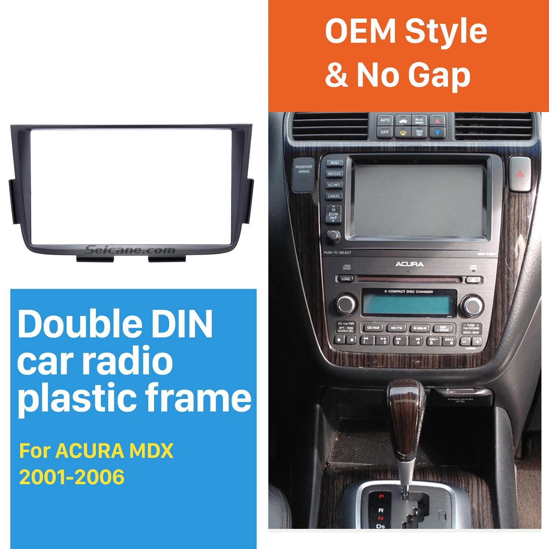 Negro Doble Din Car Radio Fascia De 2001 2002 2003 Stereo