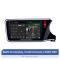 Para 2014 2015 2016 2017 HONDA CITY RHD Reemplazo de radio con Android 10.0 HD Pantalla táctil Bluetooth Sistema de navegación GPS 3G OBD2 Control del volante Cámara retrovisora 1080P Video