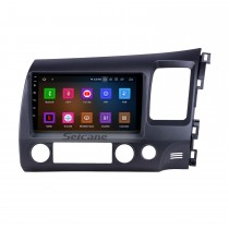 2006-2011 Honda Civic RHD 9 pulgadas Android 9.0 Navegación GPS Radio Bluetooth HD Pantalla táctil USB Carplay Música AUX ayuda TPMS TV digital