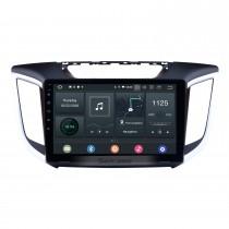 10.1 pulgadas Android 10.0 Radio para 2014 2015 HYUNDAI IX25 Creta con 3G WiFi Bluetooth Sistema de navegación GPS Pantalla táctil capacitiva TPMS DVR OBD II Cámara trasera AUX Reposacabezas Monitor Control USB SD Video