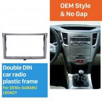 173*98/178*100/178*102mm Doble Din Car Radio Fascia para 2010+ Subaru Legacy DVD estéreo Recorte cuadro de instrumentos marco de la placa de montaje