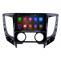 9 pulgadas Android 9.0 2015 Mitsubishi TRITON Manual A / C HD Pantalla táctil Navegación GPS Radio con USB Carplay Bluetooth WIFI compatible con reproductor de DVD 4G