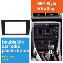 173 * 98 mm Doble Din 2006 Audi A4 Juego de armazón de audio Panel de radio de coche Fascia Autostereo ajuste del bisel