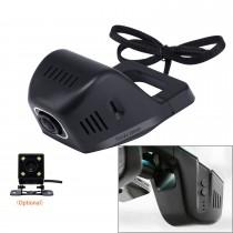 Universal Hidden HD de 170 grados coche de gran angular Grabadora de vídeo con conexión de teléfono WIFI GPS de visualización de conducción Trayectoria de aparcamiento de seguimiento de copia de seguridad de cámara de Rearview