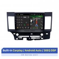 10.1 pulgadas Android 10.0 Radio Sistema de navegación GPS para 2007-2015 Mitsubishi LANCER con pantalla táctil Bluetooth HD OBD2 DVR Cámara de visión trasera TV 1080P Video USB Control del volante