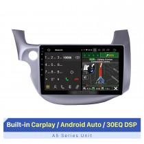 10.1 pulgadas Android 10.0 GPS Radio Estéreo para automóvil para 2007-2013 Honda FIT Controlador de mano izquierda WIFI Bluetooth HD 1024 * 600 Pantalla táctil Sistema de navegación SWC OBD2 DVR Cámara de vista trasera TV USB 1080P Video
