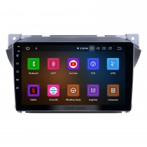 Android 9.0 Pantalla táctil HD Radio de 9 pulgadas para 2009-2016 Suzuki Alto con navegación GPS Bluetooth Wifi música USB Mirror Link compatible DVD 1080P Vídeo Carplay TPMS Módulo 4G TV digital