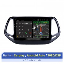 Android 10.0 Navegación GPS para 2017 Jeep Compass 10.1 pulgadas HD Pantalla táctil Radio multimedia Bluetooth MP5 música WIFI Soporte USB 4G Carplay SWC OBD2 Retrovisor