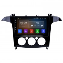 Android 10.0 Radio de navegación GPS de 9 pulgadas para 2007-2008 Ford S-Max Manual A / C con pantalla táctil HD Carplay Bluetooth compatible con TV digital
