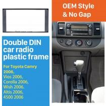 173 * 98 mm Doble Din 2006 Toyota Camry Corolla Vios Wish Altis 4500 la radio de coche de instalación fascia panel del capítulo Kit de CD de recorte
