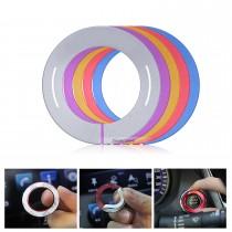 Múltiples colores botón de arranque del motor etiqueta de decoración para el coche Infiniti Styling anillo de aleación de aluminio de ajuste