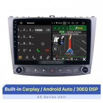 10.1 pulgadas Para Lexus IS250 IS350 Radio Android 10.0 Sistema de navegación GPS con pantalla táctil HD Soporte Bluetooth Carplay Cámara de respaldo