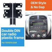 13mm Doble Din Toyota oído Lados radio de coche Fascia soporte para tablero capítulo de la placa del kit adaptador de cara Autostereo Panel