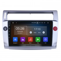 9 pulgadas para 2009 Citroen Old C-Quatre Radio Android 10.0 Sistema de navegación GPS Bluetooth HD Pantalla táctil Carplay compatible con TV digital