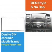 173 * 98 mm Doble Din 2010 Nissan Tiida coche del marco de interfaz de radio estéreo Fascia Auto Panel de ajuste de CD