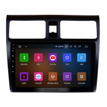 Aftermarket Radio 10.1 pulgadas Android 9.0 Navegación GPS para 2005-2010 SUZUKI SWIFT Mirror Link Bluetooth WiFi Soporte de audio Cámara de vista trasera 1080P Video DVR DAB + Reproductor de DVD