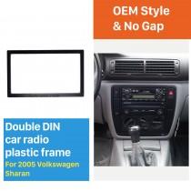 173 * 98 mm Doble Din 2005 Volkswagen Sharan Radio de coche Fascia Auto Stereo Fitting Frame Dash Kit Panel Adaptador