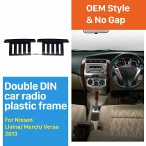 173 * 100 mm 2Din 2013 Nissan Livina marzo Versa radio de coche recubrimiento cortado Bisel envolvente estéreo marco del panel Instalar