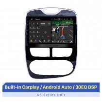 10.1 pulgadas para 2012-2016 Renault Clio Digital / Analog (MT) Android 10.0 HD Pantalla táctil Estéreo automático Sistema de navegación GPS Soporte Bluetooth Estéreo para automóvil 3G / 4G WIFI OBDII Video Control del volante DVR
