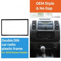 173 * 98 mm Double Din 2010 Nissan Paladin Car Radio Fascia Kit de instalación Stereo Frame Panel Dash Kit