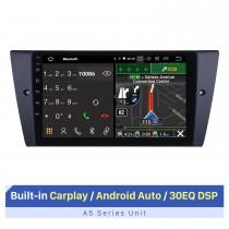 Android 10.0 9 pulgadas para 2005-2012 BMW Serie 3 E90 E91 E92 E93 316i 318i 320i 320si 323i 325i 328i 330i 335i 335is M3 316d 318d 320d 325d 330d 335d Sistema de navegación GPS Radio con pantalla táctil HD Bluetooth WIFI Carplay compatible con 1080P