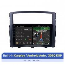9 pulgadas 2006-2017 MITSUBISHI PAJERO V97 / V93 HD Pantalla táctil Sistema de navegación GPS Android 10.0 Soporte de radio Bluetooth OBDII Cámara trasera Control de volante AUX USB 1080P Enlace espejo 3G / 4G WiFi TPMS DVR USB
