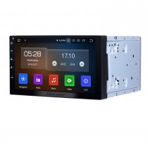 7 pulgadas Deckless HD Touch Panel 2 Din Universal Radio Android 9.0 sistema de navegación GPS con Bluetooth Teléfono WIFI Multimedia Jugador 1080P Video USB Control de rueda