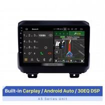 2018 Jeep Wrangler Rubicon Android 10.0 Navegación GPS 9 pulgadas 1024 * 600 Pantalla táctil Unidad principal Bluetooth Radio FM RDS música Soporte WIFI 4G Carplay USB Control del volante