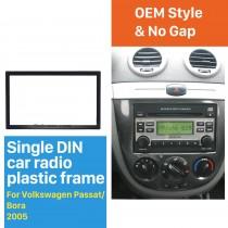 173 * 98mm Doble Din 2005 Volkswagen Passat Bora Car Radio Fascia Reproductor de DVD Reproductor de Audio Reproductor de sonido Adaptador de marco