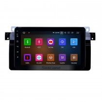 8 pulgadas 1998-2006 BMW Serie 3 M3 E46 Android 9.0 Pantalla táctil HD Radio de navegación GPS con Bluetooth WiFi Mirror Link Carplay compatible con OBD2 TV digital