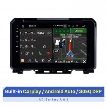 Android 10.0 Radio de navegación GPS de 9 pulgadas para Suzuki JIMNY 2019-2021 con pantalla táctil HD Carplay Bluetooth WIFI USB AUX compatible con cámara de respaldo OBD2 SWC