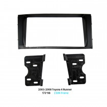 173 * 98 mm Double Din 2003-2008 Toyota 4 Runner Car Radio Fascia Dash Mount Kit de marco DVD Panel Audio Player