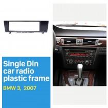 1 Din para 2007 BMW 3 Car Radio Fascia Reproductor de DVD Instalación de molduras Kit de panel decorado