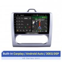 9 pulgadas HD 1024 * 600 Android 10.0 para 2004-2011 Ford Focus 2 Auto A / C Bluetooth Radio Navegación GPS Estéreo para automóvil Pantalla táctil USB RDS DAB + Control del volante
