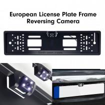 170 grados de gran angular de visión nocturna de gran visión impermeable placa de matrícula europea universal retrovisor de copia de seguridad de aparcamiento cámara de estacionamiento de inversión del sistema de asistencia