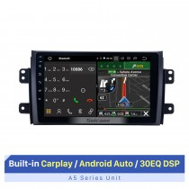 Android 10.0 HD Pantalla táctil Radio de coche estéreo para 2007-2015 Suzuki SX4 Fiat Sedici Sistema de navegación GPS Bluetooth Reproductor de DVD Música USB WIFI DVR OBD2 1080P