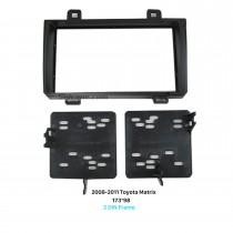 173 * 98 mm Doble Din 2008-2011 Toyota Matrix radio de coche de la fascia estéreo del tablero de instrumentos Instalar marco del panel de DVD