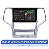 Pantalla táctil de 9 pulgadas para Jeep Grand Cherokee 2008-2012 Estéreo Android Navegación GPS para automóvil Reparación de radio de automóvil Autoradio Bluetooth Soporte OBD2