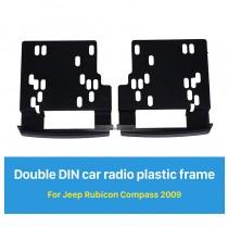 173 * 98 mm 2Din radio de coche de la fascia para 2009 Jeep Rubicon Brújula marco decorativo Dash CD de instalación del kit de montaje