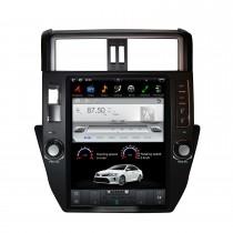 12,1 pulgadas Android 9.0 Car Stereo Sat Multimedia Player para 2010-2013 TOYOTA PRADO / LC150 / PRADO 150 Sistema de navegación GPS con soporte Bluetooth Carplay