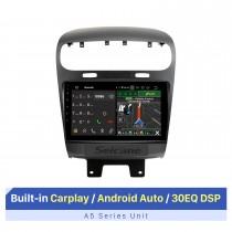 Pantalla táctil HD de 9 pulgadas para Dodge Journey JC 2011-2020 Radio estéreo para automóvil con sistema de audio para automóvil Bluetooth compatible con OBD2