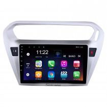 Sistema de navegación GPS Bluetooth de 9 pulgadas Android 10.0 Pantalla táctil para 2013 2014 2015 Citroen Elysee Peguot 301 compatible TPMS DVR OBD II USB SD 3G WiFi Cámara trasera Control del volante