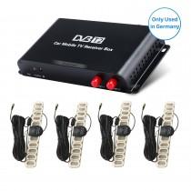Caja de TV del receptor video TV DVB-T2 H.265 de la TV del coche para el reproductor de DVD del coche de la región de Alemania con 1080P interfaz de HDMI 4 sintonizador de la antena del amplificador