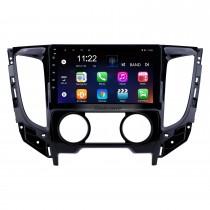 2015 Mitsubishi TRITON (MT) Aire acondicionado manual Android 10.0 Radio de coche Pantalla táctil HD de 9 pulgadas Sistema de navegación GPS Unidad principal con USB Mirror Link Música FM Soporte WIFI Bluetooth SWC Cámara de respaldo Carplay TV digital