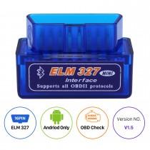 El más nuevo mini estupendo V1.5 ELM327 OBD OBD2 ELM327 Interfaz de Bluetooth Auto Explorador del coche Herramienta de diagnóstico especial para Seicane