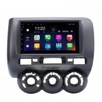 2002-2008 HONDA Jazz (Manual AC, RHD) 7 pulgadas HD con pantalla táctil Android 10.0 Car Estéreo Sistema de navegación GPS con radio FM Música Bluetooth WIFI Enlace de espejo compatible TPMS Cámara de respaldo de TV digital USB
