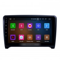 9 pulgadas para 2006 2007 2008-2013 Audi TT Radio Android 10.0 Sistema de navegación GPS con Bluetooth HD Pantalla táctil Carplay compatible con TV digital