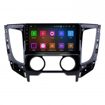 9 pulgadas Android 10.0 2015 Mitsubishi TRITON Manual A / C HD Pantalla táctil Navegación GPS Radio con USB Carplay Bluetooth WIFI compatible con reproductor de DVD 4G